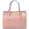 Aura Nude Leather Handbag | Tuscany Leather Handbag | Handbags Australia