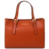 Tuscany Leather TL141434 Aura Leather Handbag - Brandy | Handbags Australia