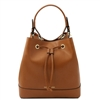 Tuscany Leather TL141436 Saffiano Leather Secchiello Bag - Cognac | Leather Bags Australia