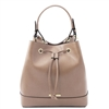 Tuscany Leather TL141436 Minerva Leather Bucket Bag - Taupe | Leather Bags Australia
