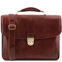 Tuscany Leather TL SMART Multi Compartment Laptop Case | Leather Laptop Bags Australia
