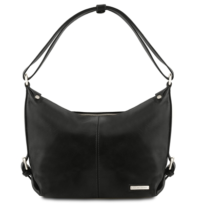 TL141479 Tuscany Leather Sabrina Women's  Black Leather Hobo Bag  Australia