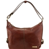 TL141479 Tuscany Leather Sabrina Leather Hobo Bag - Brown