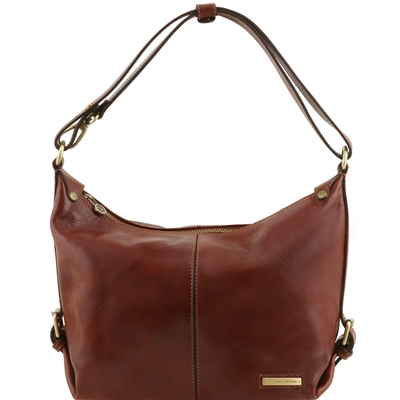 TL141479 Tuscany Leather Sabrina Brown Leather Hobo Bag Online Australia
