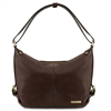 Tuscany Leather Sabrina Leather Hobo Bag - Dark Brown | Online | Australia