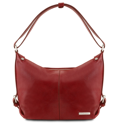 TL141479 Tuscany Leather Sabrina Leather Hobo Bag - Red