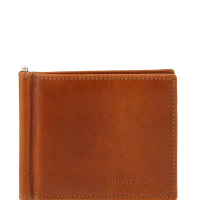 Tuscany Leather TL141501 Men's Leather Wallet With Money Clip - Honey Australia