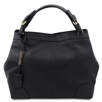 Tuscany Leather TL141516 Ambrosia Soft Leather Bag - Black