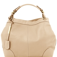 Tuscany Leather TL141516 Ambrosia Soft Leather Bag - Beige