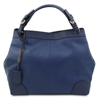 Tuscany Leather TL141516 Ambrosia Soft Leather Bag - Dark Blue