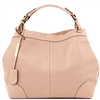 Tuscany Leather TL141516 Ambrosia Soft Leather Bag - Nude | Shop Australia