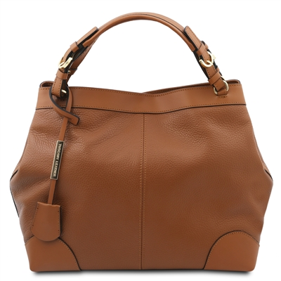 Tuscany Leather TL141516 Ambrosia Soft Leather Bag - Cognac