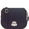 Tuscany Leather TL141517 Neoclassic Shoulder Bag- Dark Blue