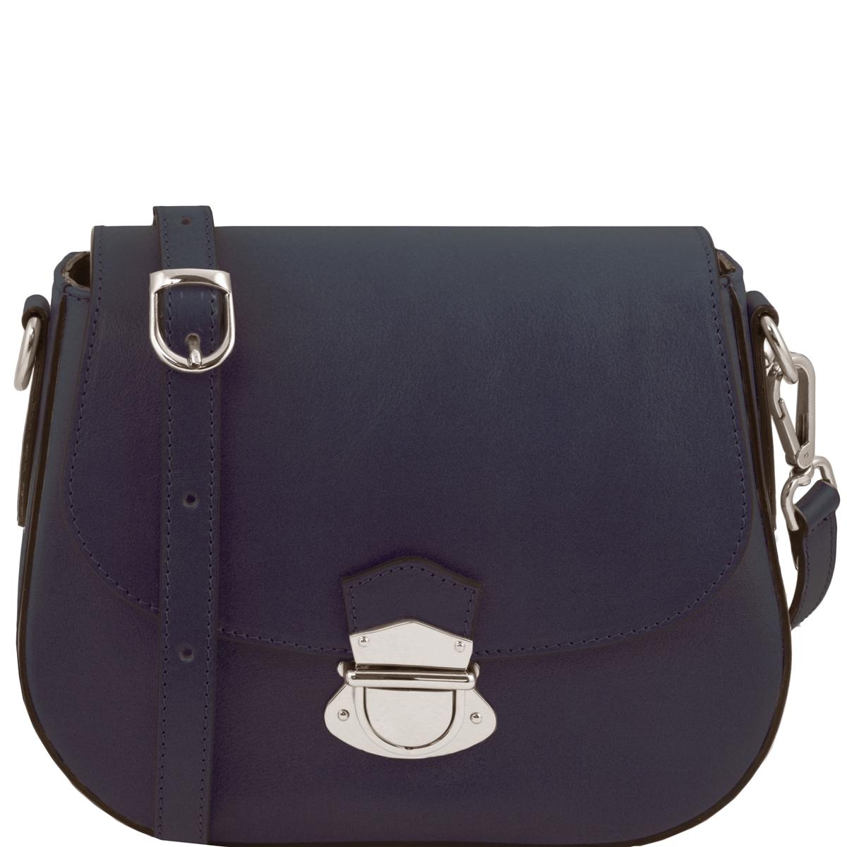 99fa53a57a Tuscany Leather TL141517 Neoclassic Shoulder Bag- Dark Blue