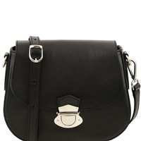 Tuscany Leather TL141517 Neoclassic Shoulder Bag - Black