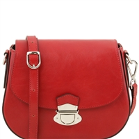 Tuscany Leather TL141517 Neoclassic Shoulder Bag - Red