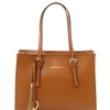 Tuscany Leather TL141518 Saffiano Leather Handbag - Cognac