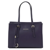 Tuscany Leather TL141518 Saffiano Leather Handbag - Dark Blue