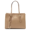 Tuscany Leather TL141518 Saffiano Leather Handbag - Caramel