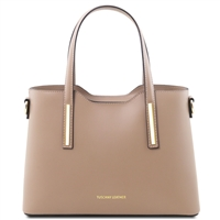 Tuscany Leather TL141521 Olimpia Handbag - Small - Light Taupe