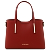 Tuscany Leather TL141521 Olimpia Red Leather Tote Handbag - Small | Leather Handbags Australia