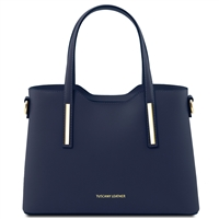 Tuscany Leather TL141521 Olimpia Handbag - Small - Dark Blue | Handbags Australia