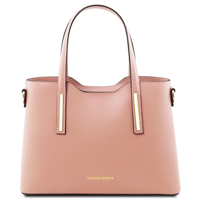Tuscany Leather TL141521 Olimpia Handbag - Small - Nude | Handbags Australia