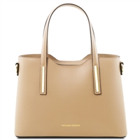 Tuscany Leather TL141521 Olimpia Handbag - Small - Champagne | Handbags Australia