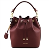 Tuscany Leather TL141531 Ruga Leather Bucket Bag - Bordeaux