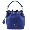 Tuscany Leather TL141531 Vittoria Leather Bucket Bag - Blue | Women's | Bags | Australia