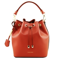 Tuscany Leather TL141531 Vittoria Leather Bucket Bag - Brandy | Women's Bags Australia