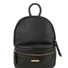 Tuscany Leather TL141532 Soft Textured Leather Backpack - Black