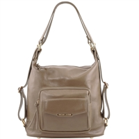 TL141535 Tuscany Leather Women's Convertible Leather Bag Taupe | Shop | Australia