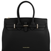 Tuscany Leather TL141548 Elettra Leather Handbag Black
