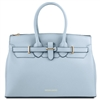 Tuscany Leather TL141548 Elettra Leather Handbag Light Blue