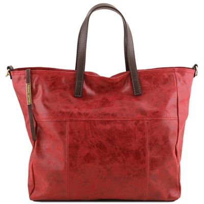 TL141552 Tuscany Leather Annie TL Smart Shopper - Red