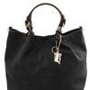 TL141568 Tuscany Leather Woven Bag - Black | Women's | Bags | Australia