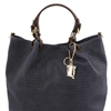 TL141568 Woven Tuscany Leather Bag - Dark Blue