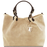 TL141568 Woven Tuscany Leather Bag - Beige