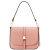Tuscany Leather TL141598 Nausica Ruga Leather Shoulder Bag Pink