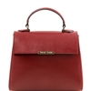 TL141628 Small Saffiano Leather Duffel Bag by Tuscany Leather Red