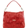Tuscany Leather TL141637 Aged Effect Leather Handbag Red