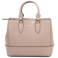 Tuscany Leather TL141638 Saffiano Leather Handbag - Nude