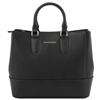 Tuscany Leather TL141638 Saffiano Leather Handbag - Black