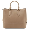 Tuscany Leather TL141638 Saffiano Leather Handbag - Caramel