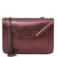 Tuscany Leather TL141641 Iride Metallic Leather Clutch - Bordeaux