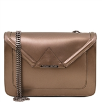 Tuscany Leather TL141641 Iride Metallic Leather Clutch - Bronze
