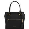 TL141644 Lara Leather Handbag - Black by Tuscany Leather