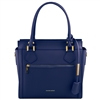 TL141644 Lara Leather Handbag - Blue Tuscany Leather Australia