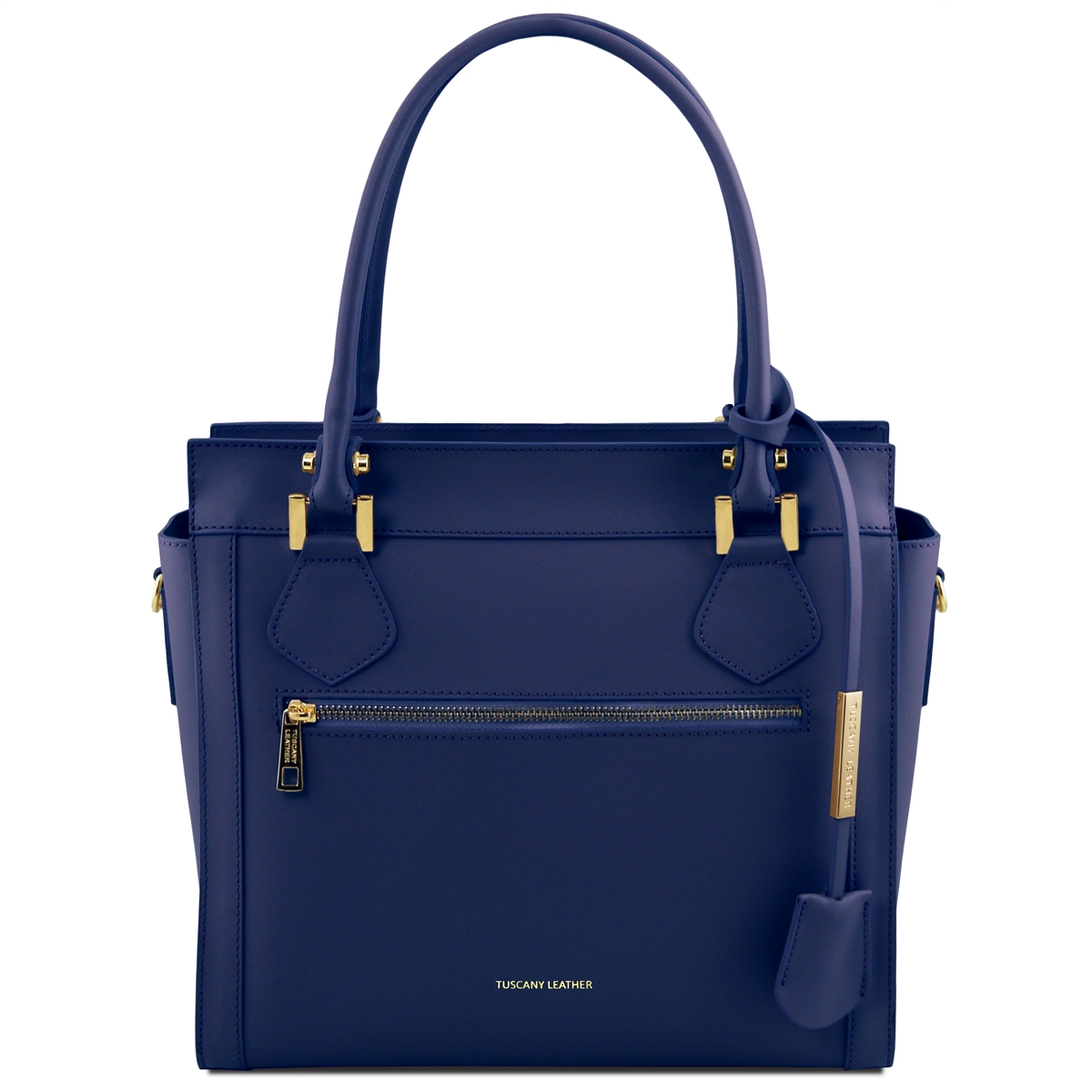 bc1c0498f2 TL141644 Lara Leather Handbag - Blue Tuscany Leather Australia